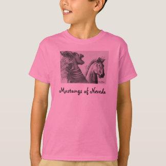 Mustangs of Nevada, Artwork by Susan B... T-Shirt