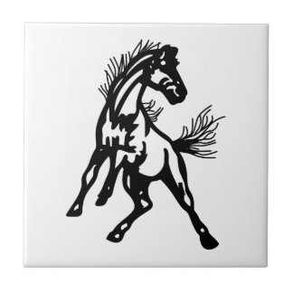Mustangs Small Square Tile