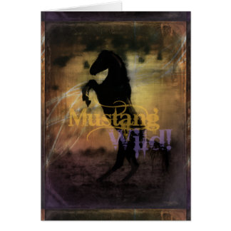 MustangWILD Greeting Card