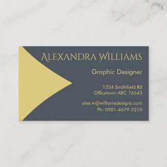 Mustard and Dark Teal Business Card
