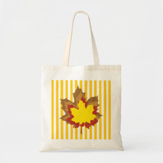 Mustard Autumnal Stripes Tote Bag