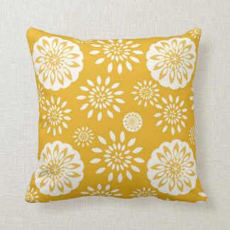 Mustard Blossom Special Throw Pillow