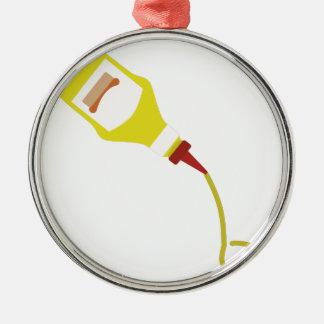Mustard Bottle Metal Ornament
