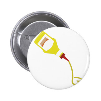 Mustard Bottle Pinback Button