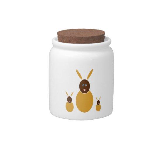 Mustard Bunnies Candy Dish