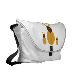 Mustard Bunnies Messenger Bag