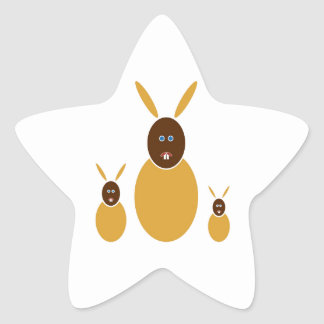 Mustard Bunnies Star Sticker