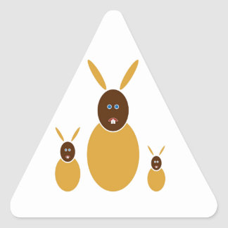 Mustard Bunnies Stickers