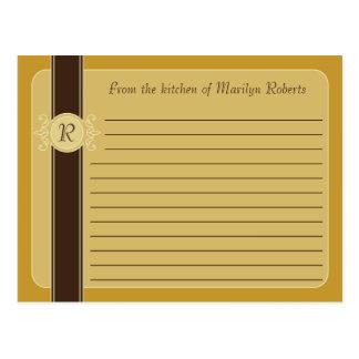 Mustard Classic Harvest Recipe Cards Post Cards