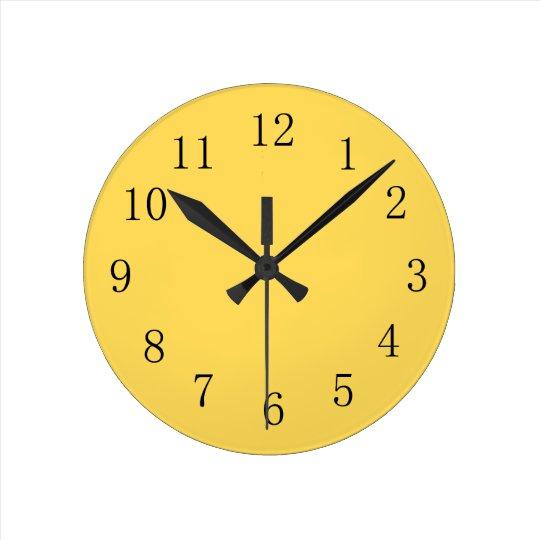 Mustard Color Yellow Kitchen Wall Clock
