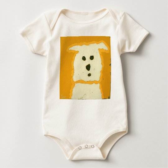 mustard dog baby bodysuit