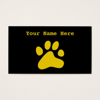 Mustard Dog Paw Business Card