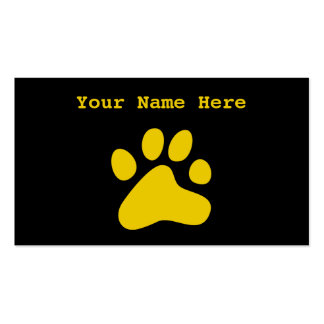 Mustard Dog Paw Business Card Template
