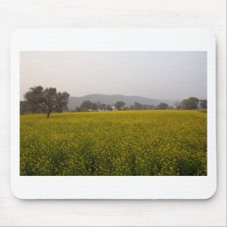 Mustard field and nature mousepad