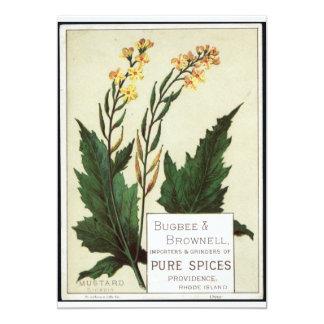 Mustard Flower Vintage art Card