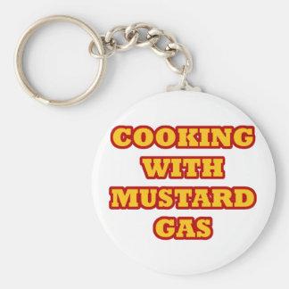 Mustard Gas Basic Round Button Keychain