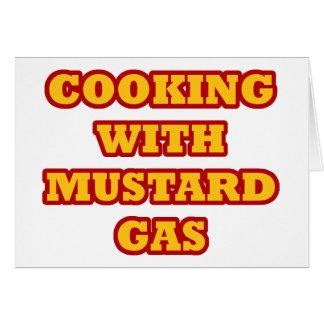 Mustard Gas Greeting Card