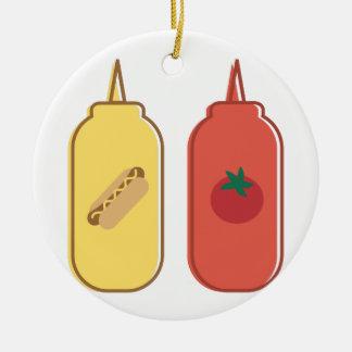 Mustard & Ketchup Ceramic Ornament