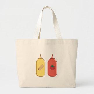 Mustard & Ketchup Large Tote Bag