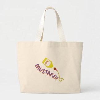 Mustard! Large Tote Bag