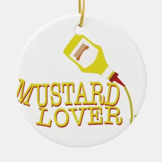Mustard Lover Ceramic Ornament