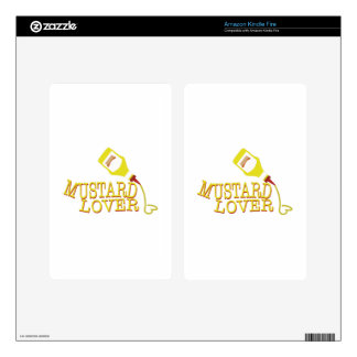 Mustard Lover Decals For Kindle Fire
