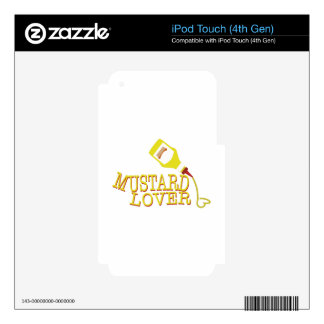 Mustard Lover Skin For iPod Touch 4G