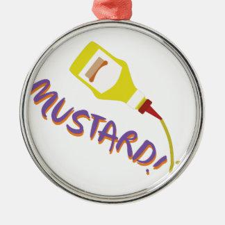Mustard! Metal Ornament