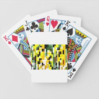 Mustard Mosaic Bicycle Playing Cards