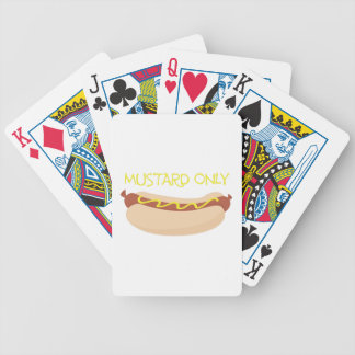 Mustard Only Bicycle Playing Cards