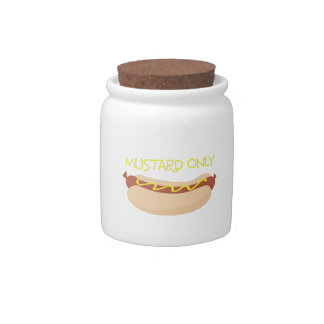 Mustard Only Candy Dishes
