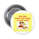 mustard pinback button
