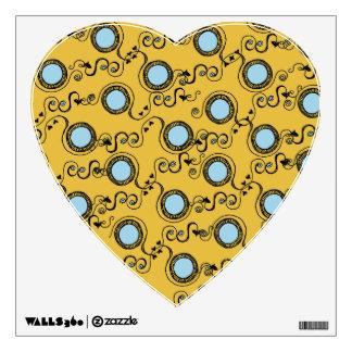 Mustard polka dot pattern wall decal