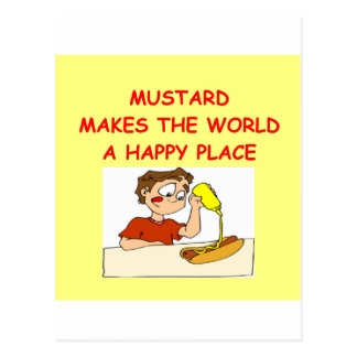 mustard postcard