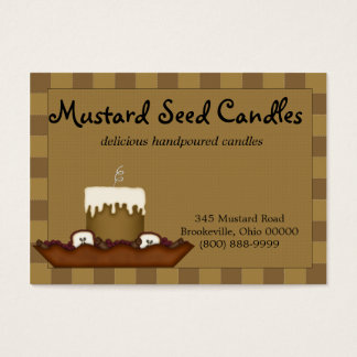 Mustard Primitive Candle Business Card
