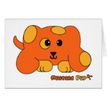 Mustard Pup Pudgie Pet Greeting Cards