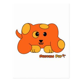 Mustard Pup Pudgie Pet Postcard