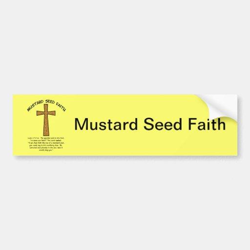 Mustard Seed Faith Car Bumper Sticker