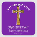 Mustard Seed Faith Square Sticker
