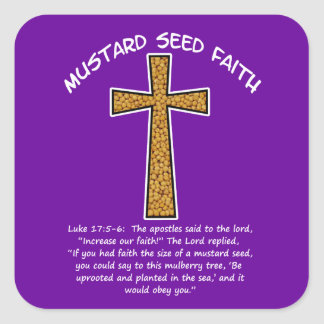 Mustard Seed Faith Square Stickers