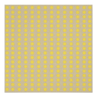 Mustard Spice Moods Dots Posters