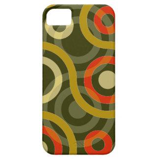 Mustard Tan Rust Geometric Swirls iPhone 5 Case