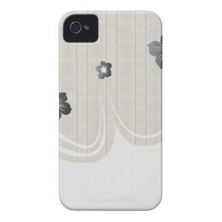 mustard teal vintage striped damask pattern iPhone 4 case