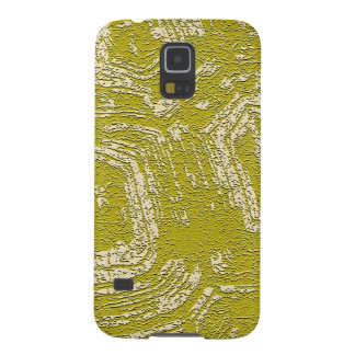 Mustard Tortoise Shell abstract print by LeahG Galaxy S5 Cover