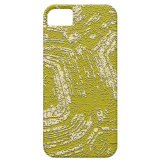 Mustard Tortoise Shell abstract print by LeahG iPhone SE/5/5s Case