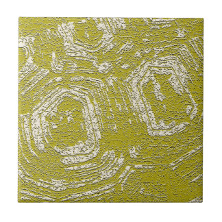 Mustard Tortoise Shell abstract print by LeahG Ceramic Tiles