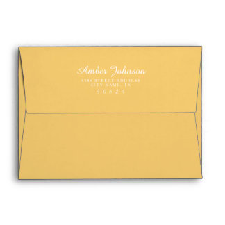 Mustard Yellow 5 x 7 Pre-Addressed Envelopes