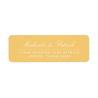 Mustard Yellow and Charcoal Gray Address Labels