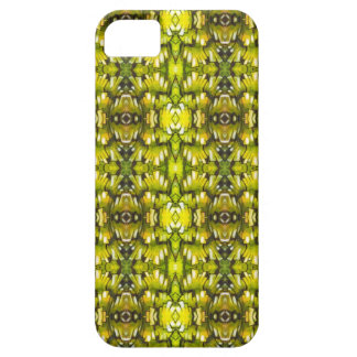 Mustard Yellow And Green Retro Wallpaper Pattern iPhone SE/5/5s Case