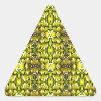 Mustard Yellow And Green Retro Wallpaper Pattern Stickers